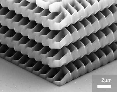 Photonic crystal designed by laser lithography (Image: Nanoscribe)