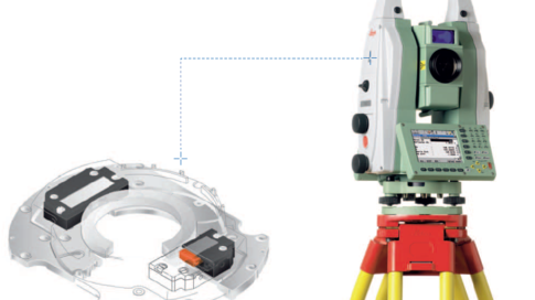 PILine® motors automate angle and distance measurement of this Leica total station (Image: Leica Geosystems)