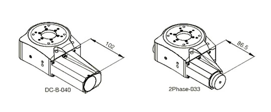 PI PRS-110 Motors Drawing, DC-B-040, 2Phase-033