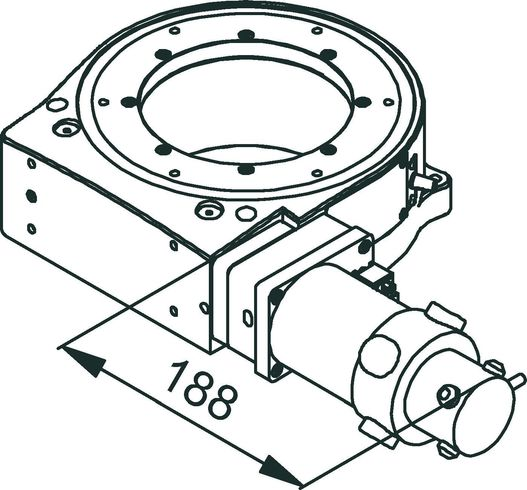 PRS-200 DC-Motor Drawing