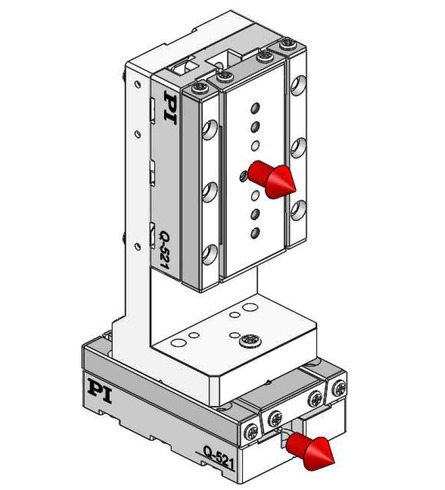 0° orientation of adapter bracket and upper axis to the lower axis